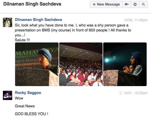 Public Speaking student at Pep Talk India