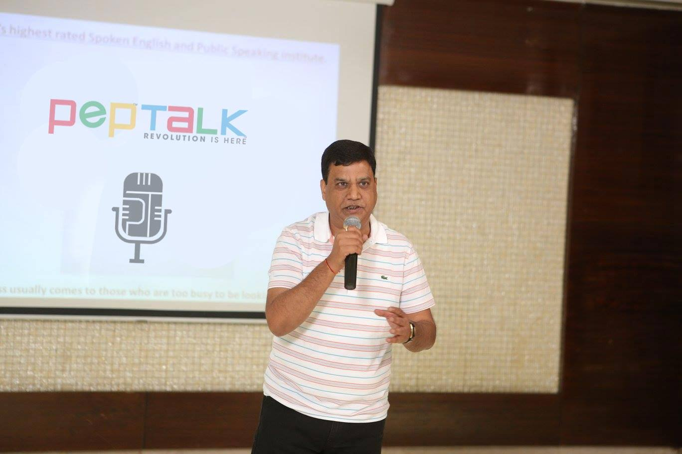 Mr. Ramesh Gupta is a businessman who always somehow finds time to be the part of Pep Talk India