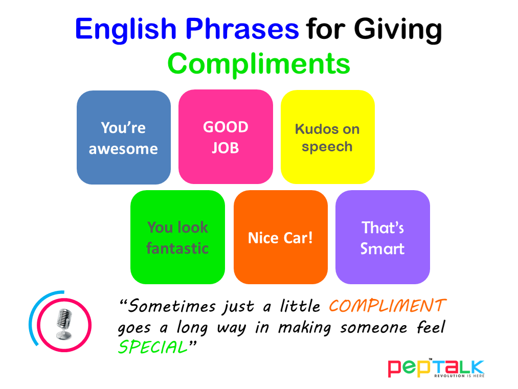 90 Wonderful ways of giving Compliments in English | Pep Talk India