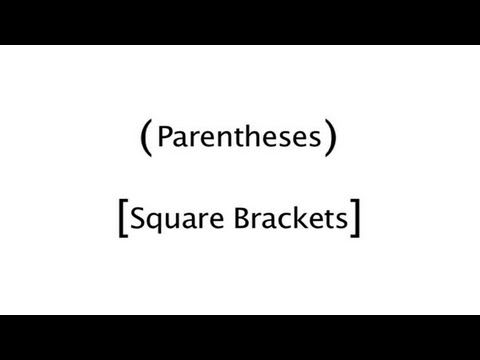 Using parentheses and brackets