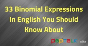 Binomial Expressions English