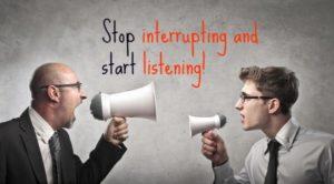 Interrupt and contradict