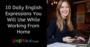 English Expressions to work from home