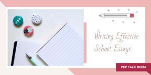 Writing School Essay Pep talk India