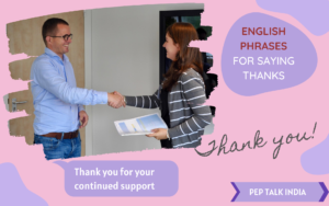 English phrases for thanks